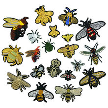 New Embroidery Patch Cloth Stickers Bee Decorative Cloth Stickers Clothing Accessories Patch Iron on Patches for Clothes Custom