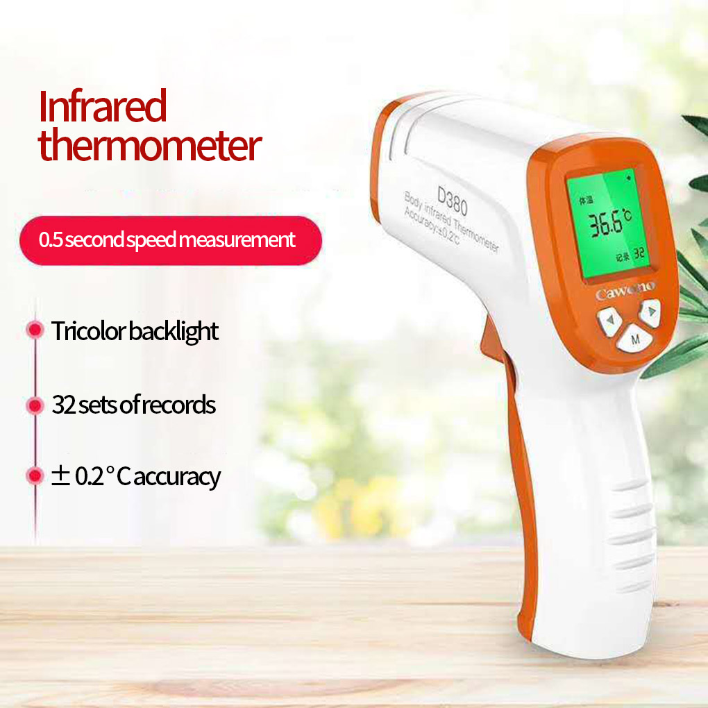 LED Display Digital thermometer Non-contact Infrared Handheld Thermometer Ambient/Human Body Temperature Measuring Device