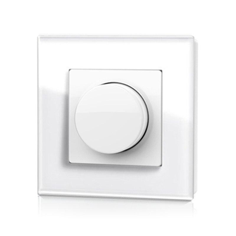 1ch * 1.2a ac triac painel de vidro rotativo dimmer st1 ac triac tiristor botão painel de vidro dimmer frontal e traseira tangencial escurecimento