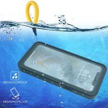 עבור iPhone 11 11 פרו מקסימום 11 פרו מקרה IP68 עמיד למים 360 תואר עמיד הלם כיסוי עם ציפה כותנה עבור iPhone 11 מתחת למים