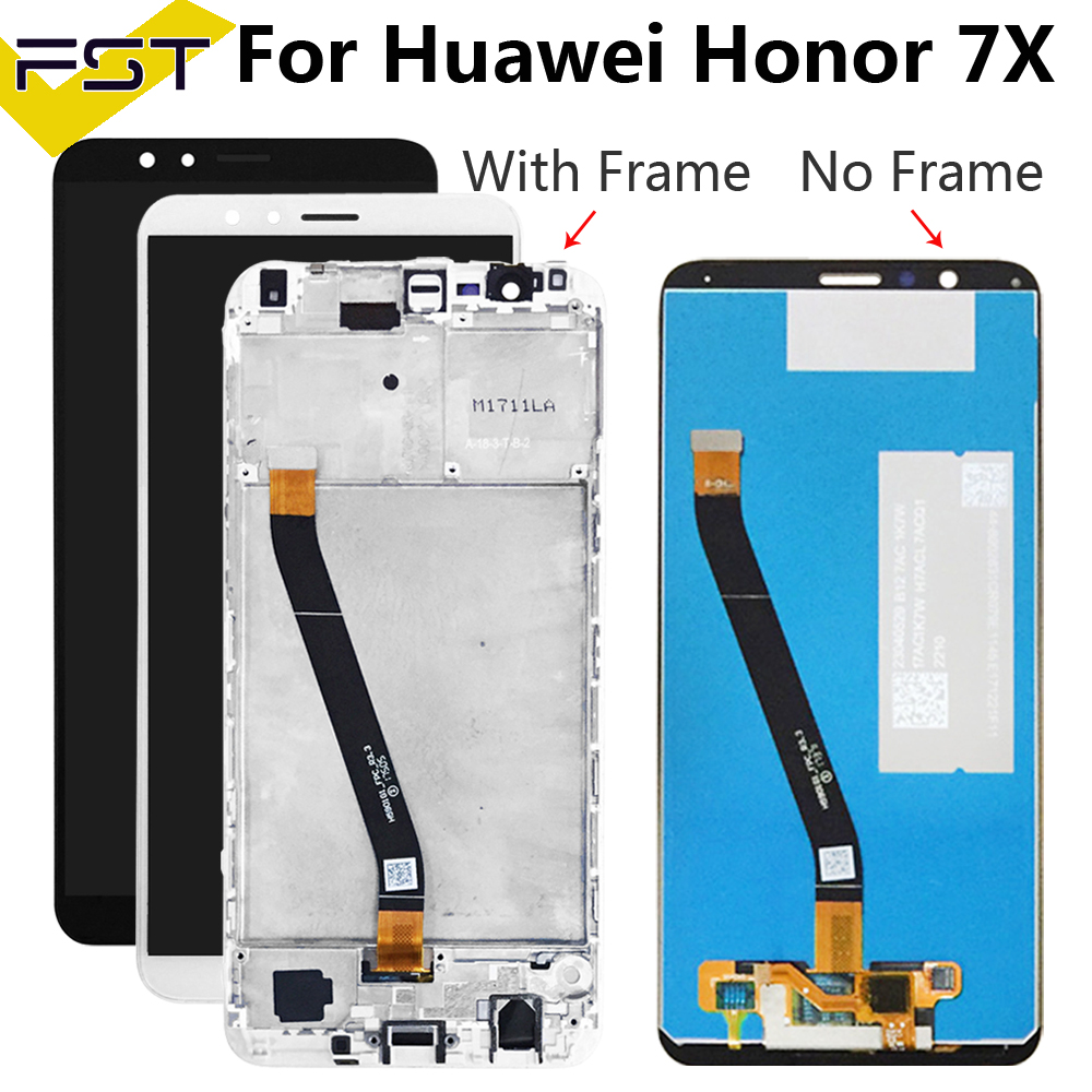 Lcd with <font><b>Frame</b></font> For <font><b>Honor</b></font> 7X LCD <font><b>Display</b></font> Touch Screen Assembly Replacement for <font><b>Huawei</b></font> <font><b>Honor</b></font> <font><b>7</b></font> X <font><b>Display</b></font> Screen BND-L21 L22 L24 image