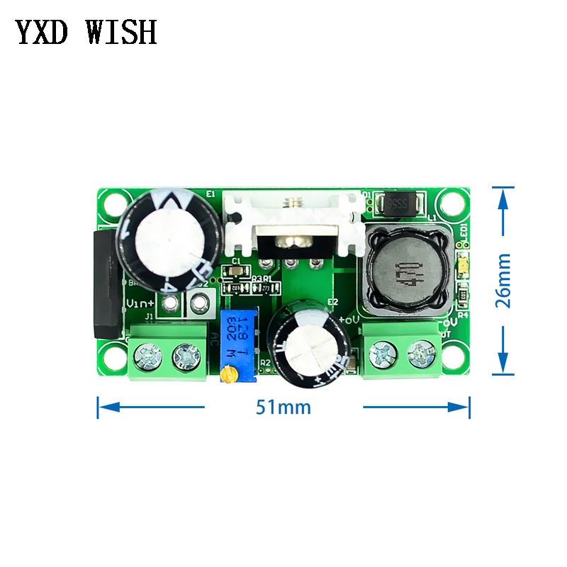 LM2596HV AC/DC to DC Buck Step Down Converter Module 3v 3.3V 5V 6V 9V 12V 15V 24V DC 5V-50V Adjustable Step-Down 3A Power Supply