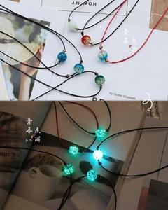 Светящийся застекленный браслет из ожерелья и бисера Diy материал ручной работы аксессуары для ювелирных изделий браслет светящаяся фантаз...