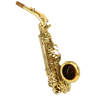 Gold bE Alto Saxphone E Flat Sax Falling E Brass Lacquered Gold Woodwind Instrument