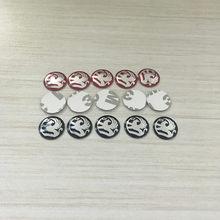 2 pçs 20 pçs aluminum14mm carro chave adesivos emblema logotipo para vauxhall astra mokka corsa meriva vxr8 gts vectra carro-estilo