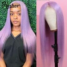 Perucas de cabelo humano dianteiro de renda roxa para mulheres negras remy perucas de renda transparente reta bob curto peruca dianteira de renda 150%