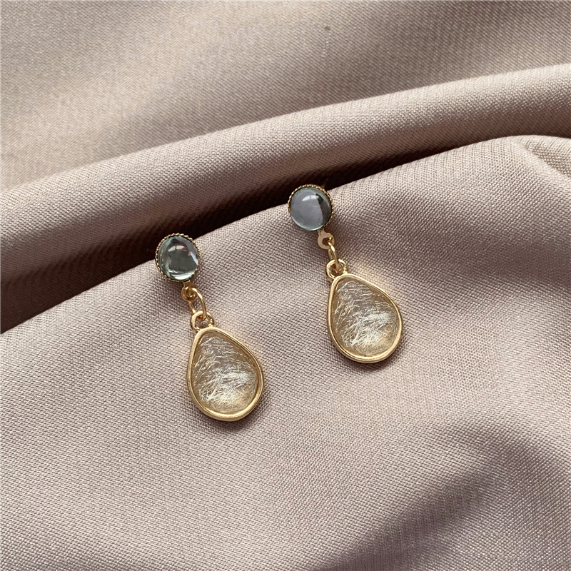 Boucles D'oreilles Goutte De Style Coréen Simple Rétro Doux Boucles D'oreilles Personnalité élégante Boucles D'oreilles Exquises