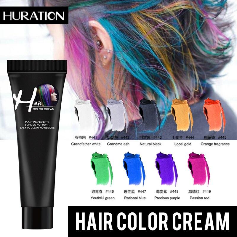 Huration Hair Color Dye Disposable Hair Color Paste Cream Hair Dye Hair Gel Coloring Molding Wax Women Men Hair Styling Dirt DIY
