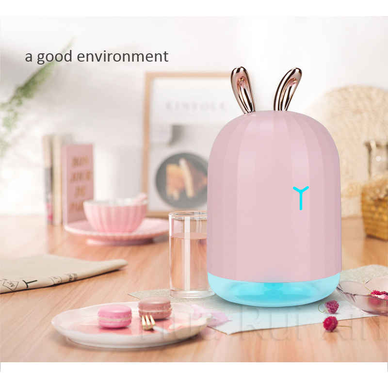 Prevent indoor and dry skin 220ML USB aromatherapy essential oil diffuser ultrasonic cold mist humidifier air purifier LED offic