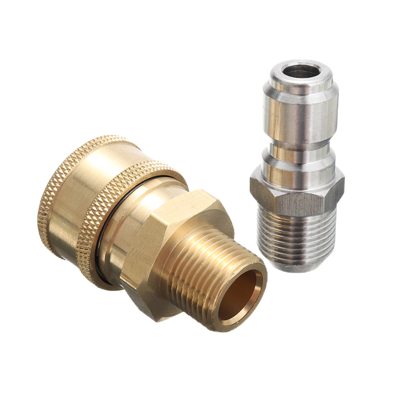 Garden Lawn Brass Quick Coupler Connectors Water Hose Fittings 3//8-inch 2pcs