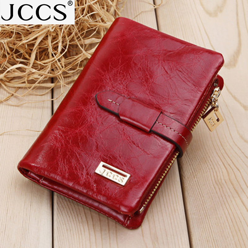JCCS  Women's Genuine Leather Wallet  Design Wallets Shoer Purse Clutch Pocket Bag  JS1029  JS1043A
