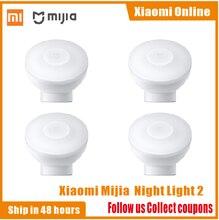 2020New Xiaomi Mijia MJYD02YL Night Light 2 รุ่นปรับความสว่างสมาร์ทอินฟราเรด Body SENSOR พร้อมฐานแม่เหล็ก