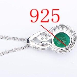 Image 5 - Женский ювелирный комплект из колье и серёг, из серебра 925 пробы