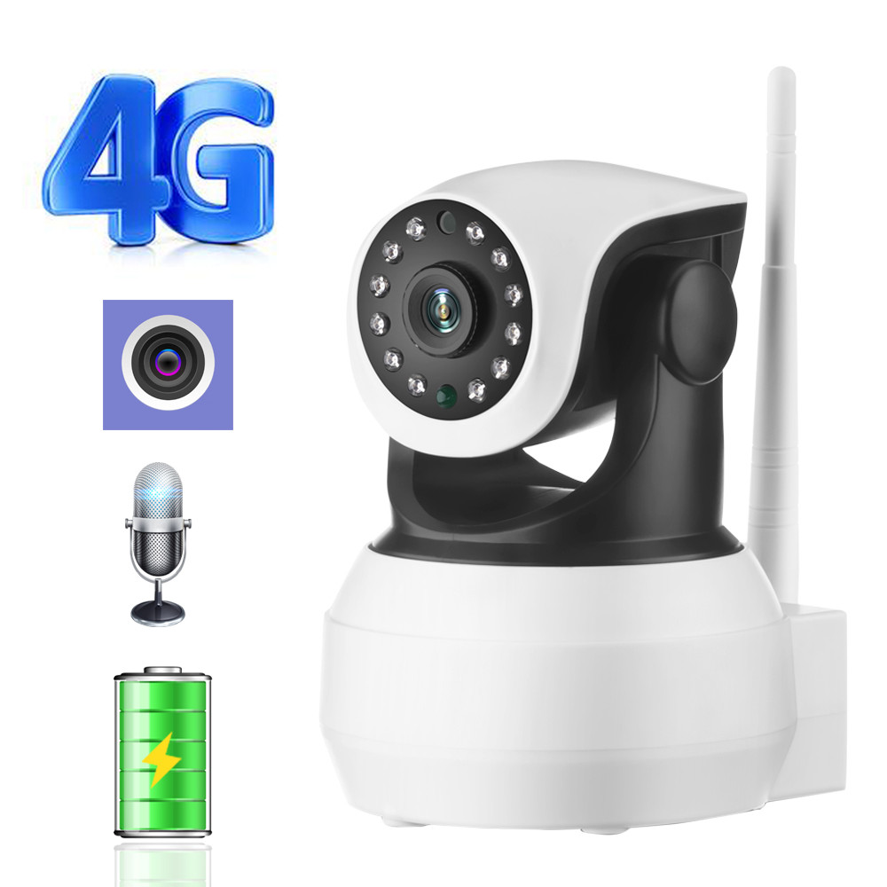 IP Camera Built in Battery Video Surveillance 3G 4G Sim Card 720P 960P 1080P HD Home Security Wireless WIFI Camera Infrared SD-in Surveillance Cameras from Security & Protection