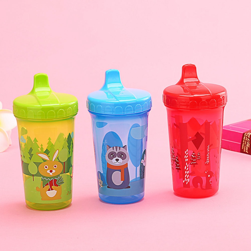 300ml Baby Kids Duckbill Cute Cup Children Learn Training Feeding Drink Water Bottle Cartoon School Drinking Food Milk Bottles