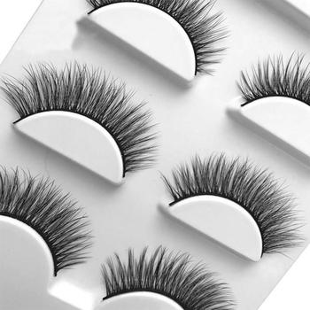 Trzy pary 3D mink sztuczne rzęsy naturalne rzęsy sztuczne rzęsy makijaż 3D Faux sztuczne rzęsy mink tanie i dobre opinie Merssavo Pasek rzęsy CN (pochodzenie) Włosy syntetyczne 1 cm-1 5 cm Plastikowe czarny terrier HB06245A1 Pełna strip lashes