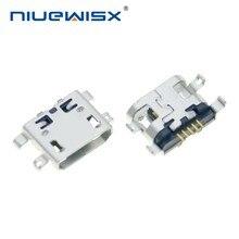 Micro conector usb tipo b 5 pinos, conector fêmea tipo 5 pinos para telefone celular, micro usb jack, soquete de carregamento com 10 peças venda em uma perda