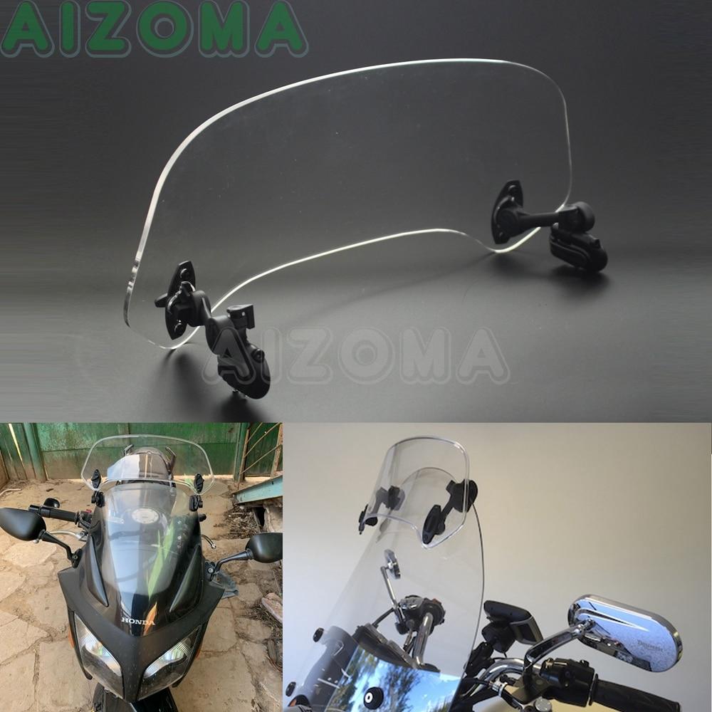 Clip-On Windscreen Motorcycle Windshields Extension Spoiler Wind Deflector