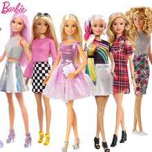 Original Barbie Dolls Brand Assortment Fashionista Girls Fashion Style Princess Girl Toys for Kids Birthday Gift Bonecas