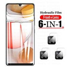 Hidrogel de película para Samsung Galaxy A42 5G Protector de pantalla de Gel de agua película protectora de la Cámara de vidrio Samsung Glaxy A12 42 12 52 21