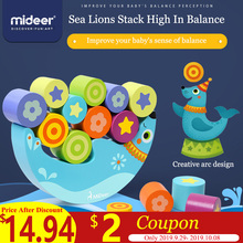 MiDeer Kids Sea Lions Stack High In Balance Childrens Shapes Wooden Building Blocks Early Education Toys