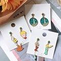 Linmouge Neue Koreanische Stil Ohrringe Für Frauen Cartoon Charakter Asymmetrie Kreativität Einfache Mädchen Paety Bithday Schmuck Geschenk EF134