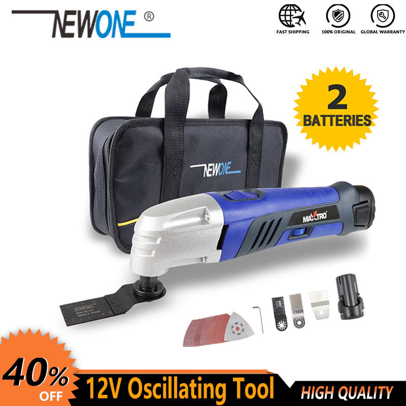 Promotion 10 8V Li-ion Oscillating Multi-Tool with 2 battery Cordless Power Tools for Home DIY Renovation Tools for wood cutting