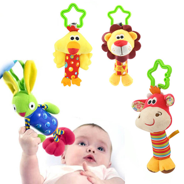 Juguete sonajero para bebé de dibujos animados, cama de 0 a 12 meses, sonajeros colgantes móviles para bebé, cuna de actividades, asiento de coche, juguete colgante de viaje, juguetes para niños y niñas