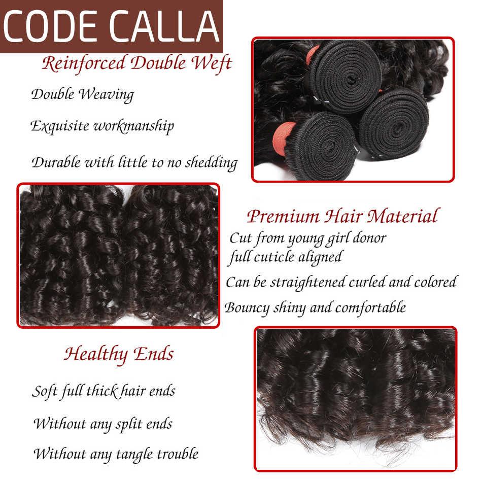 Bouncy Lockiges Haarwebart Bundles Code Calla Brasilianische Funmi Lockiges Haar 100% Menschliches Haar Extensions 1/3/4 pcs nicht remy Haar Bundles