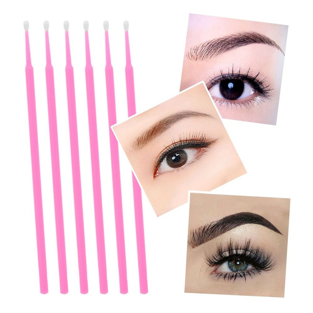 100Pcs Cleaning Stick Cotton Swab Lash Brush Disposable Materials Tooth Applicators Lip Eyelash Brush Eyelash Plaster