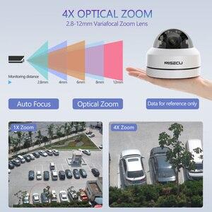 Image 2 - MISECU H.265 1080P PTZ IP kamera 4X Zoom Mini hız Dome Metal açık su geçirmez 2MP POE CCTV güvenlik Onvif p2P IR 40M kamera