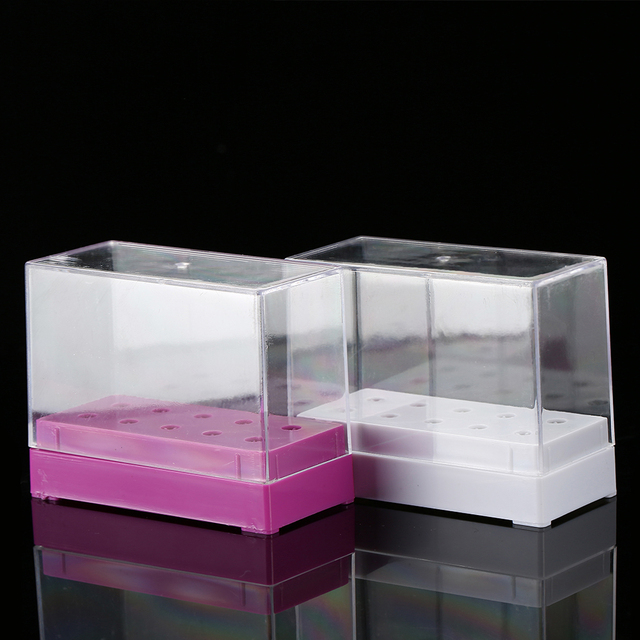 10/20/30 Slots Clear Storage Box For Electric Nail Drill Bit Rotary Files Holder Display Nail Accessorie Tools 4