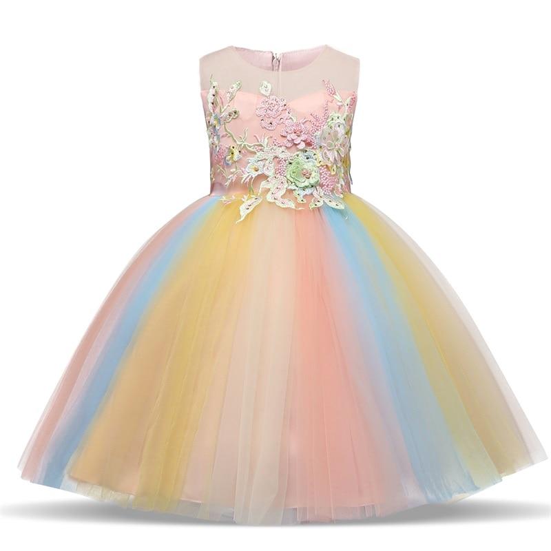 Платье для девочек; элегантное Новогоднее детское праздничное платье принцессы; свадебное платье; Детские платья для девочек; платье для дня рождения; Vestido; одежда - Цвет: Style 13