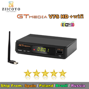 Image 1 - Hot sale Satellite TV Receiver Gtmedia V7S HD Receptor Spain DVB S2 Satellite Decoder Freesat V7 HD