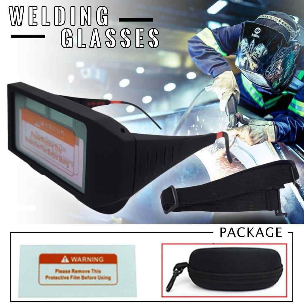Antideslumbrante soldadura de vidrio Solar Auto oscurecimiento casco ojos Protector soldador gafas máquina cortador de soldadura máscara filtro lente