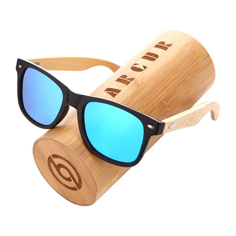BARCUR Polarized Bamboo Sunglasses Men Wooden Sun glasses Women Brand Original Wood Glasses Oculos de sol masculino 10