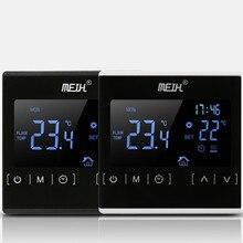 Термостат с сенсорным ЖК-экраном, электрическая система подогрева пола, терморегулятор для нагрева воды, AC85-240V регулятор температуры