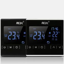 Термостат с сенсорным ЖК-экраном, электрическая система отопления пола, терморегулятор для нагрева воды, AC85-240V, регулятор температуры