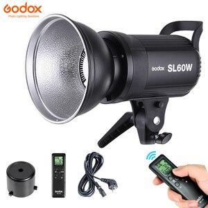 Image 2 - Godox LED Video ışığı SL 60W SL60W 5600K beyaz sürümü Video ışığı sürekli ışık Bowens dağı stüdyo Video kayıt
