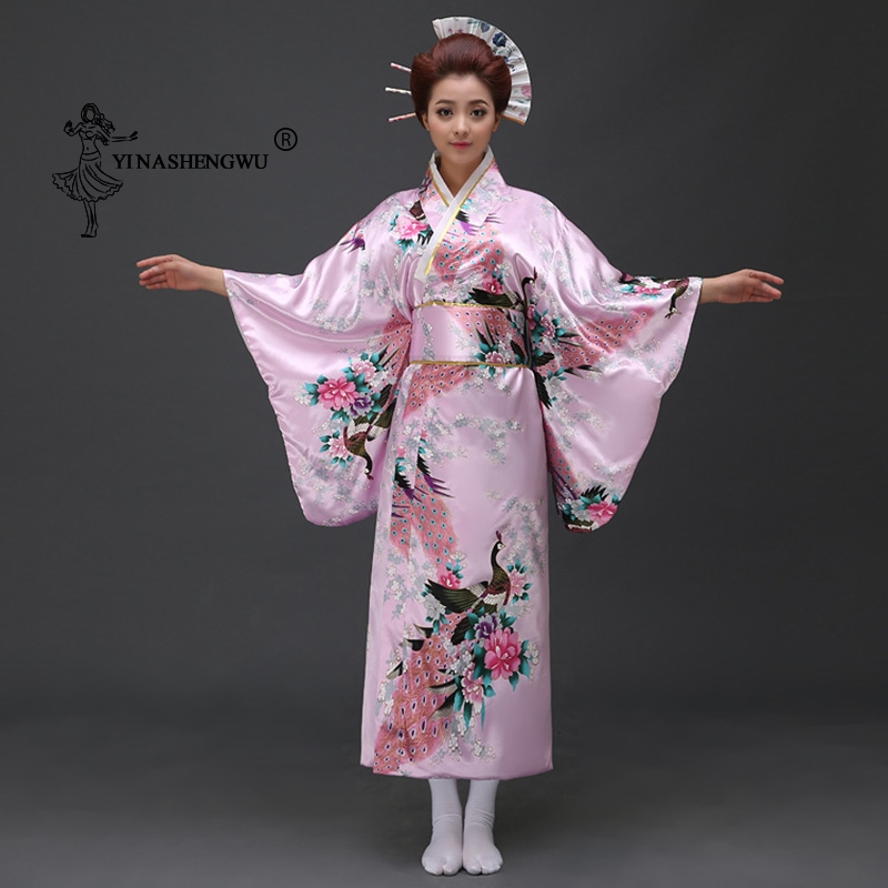 Kimono Dress Japanese Kimono Traditional Print Yukata Women Japan National Style Coat Kimono Cosplay Costume Sexy Asian Clothing