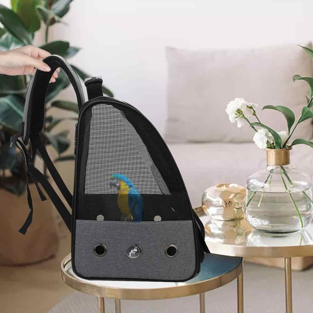 41x33x25CM Bird Cage Backpack Portable Bird Carrier with Slide Tray Breathable Bird Parrot Travel Cage Handbag Adjustable Shoulder Straps