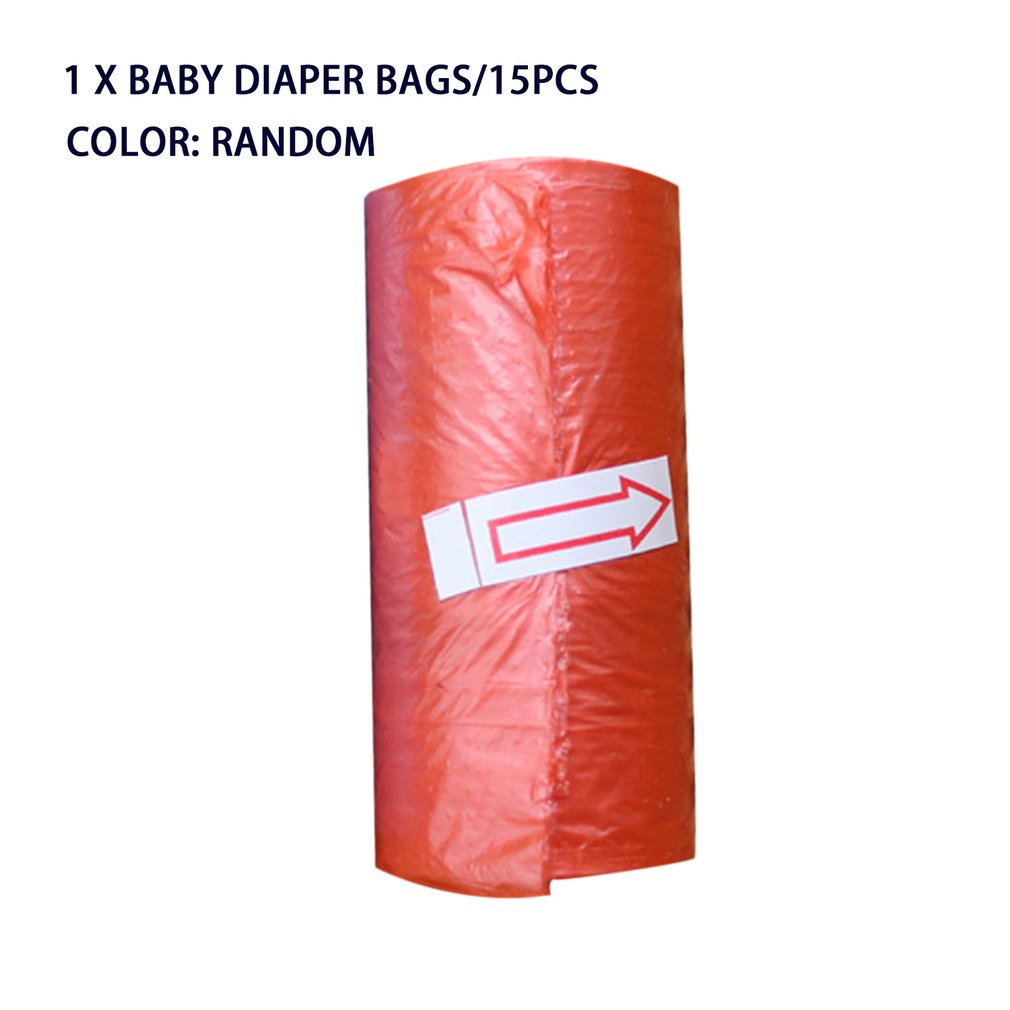 OUTAD 15pcs/roll Baby Diaper Bags Portable Disposable Baby Pet Garbage Rubbish Bags Baby Stroller Accessory For Mommy And Baby