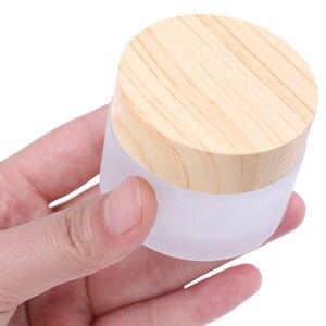 Image 5 - 1PCS 5g 10g 15g 30g 50g Gelo Bottiglia di Vetro di Plastica di Bambù Coperchio Vaso di Vetro vuoto Vasetto di Crema Bottiglia di plastica Contenitore di Imballaggio Cosmetico