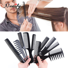 Hairdressing-Comb Professionnel for Antistatic-Measure Coiffure Nunify Malette 10pcs-Set