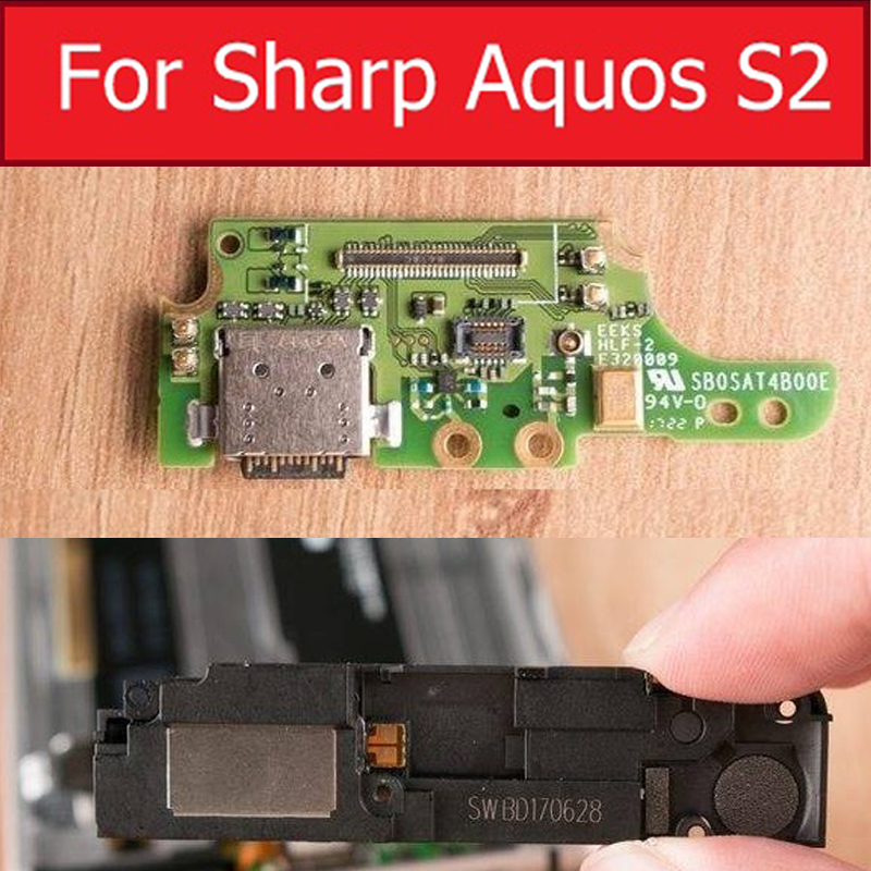 Louder Speaker Ringer Buzzer For Sharp Aquos S2 USB Charger Port Dock Board Replacement Parts