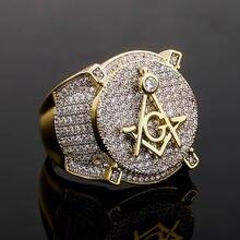Новый Мода ag кольцо масоны Для мужчин из нержавеющей стали