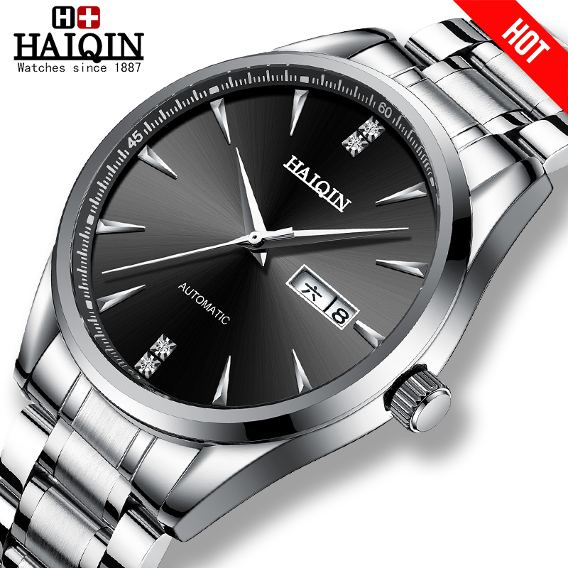 HAIQIN Men's Watches Automatic Mechanical Mens Watches Top Brand Luxury Watch Men Wirst Watch Business Clock 2019 Reloj Hombres