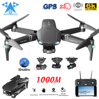 ANTINIYA GPS Drone 6K Dual HD Camera 3 assi Gimbal Dron professionale con motore Brushless RC Quadcopter FPV elicottero VS KAI ONE