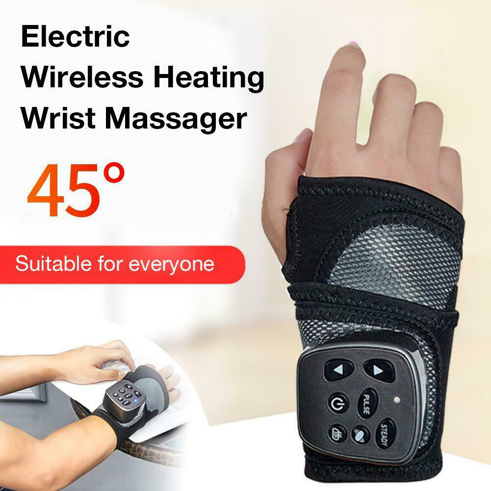 Brace Electric Therapy Hand Joint Treatment Portable Pain Relief Wrist Massager Heating Vibration Support Relaxation Health Care