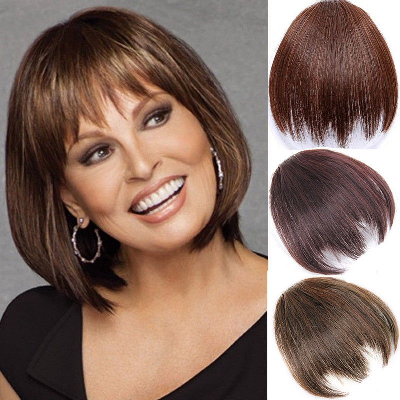 Synthetic Hair Short Bangs For White  Clip In Hair Extension Multicolor Bangs Hairpieces High Temperature Fiber Bangs
